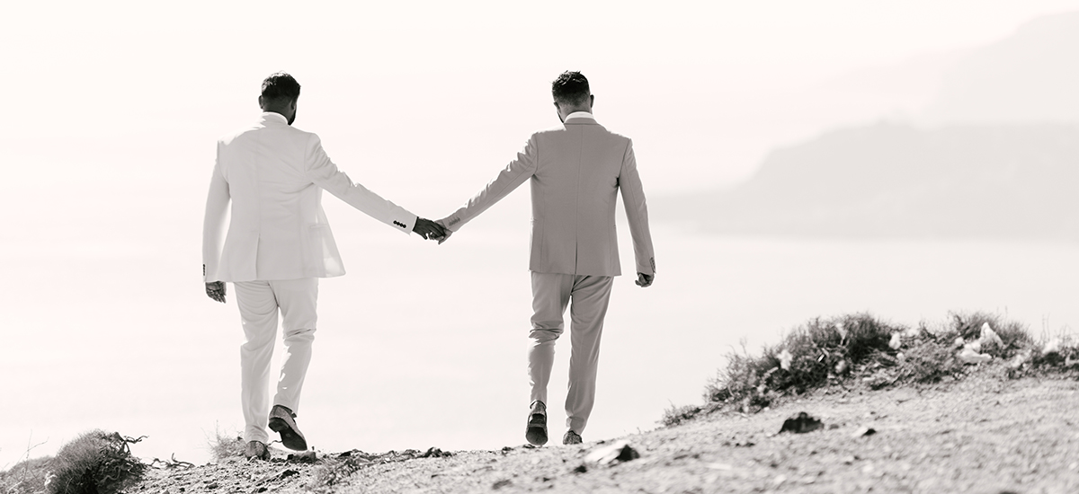 IN same sex wedding blessing ceremony santorini gay glamorous island photo photography destination cinematography photographer greece greek thira