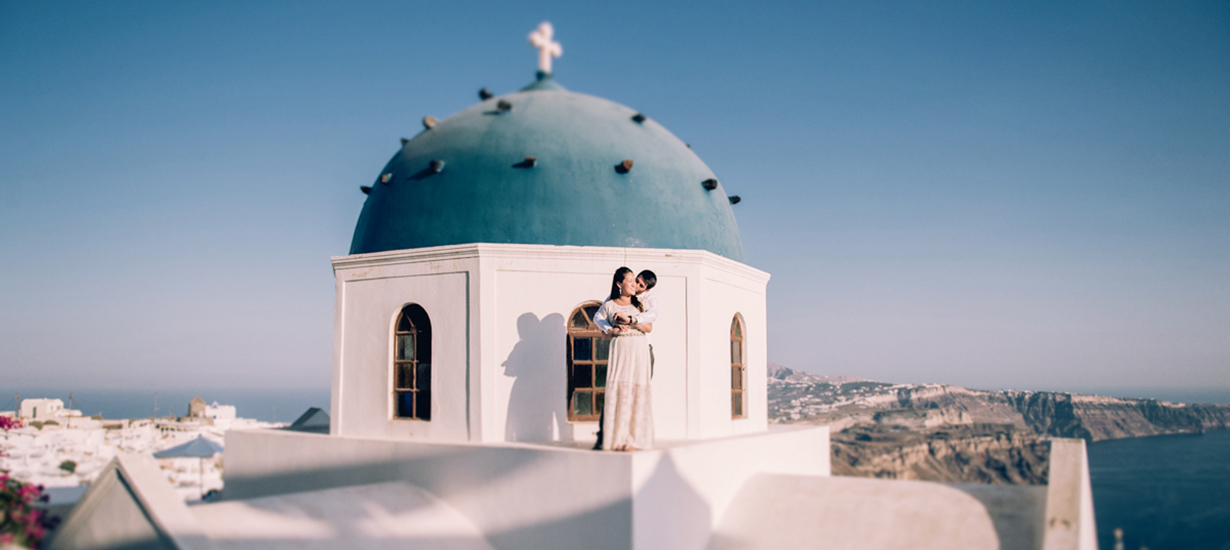 Madeline santorini-blue-dome-photography