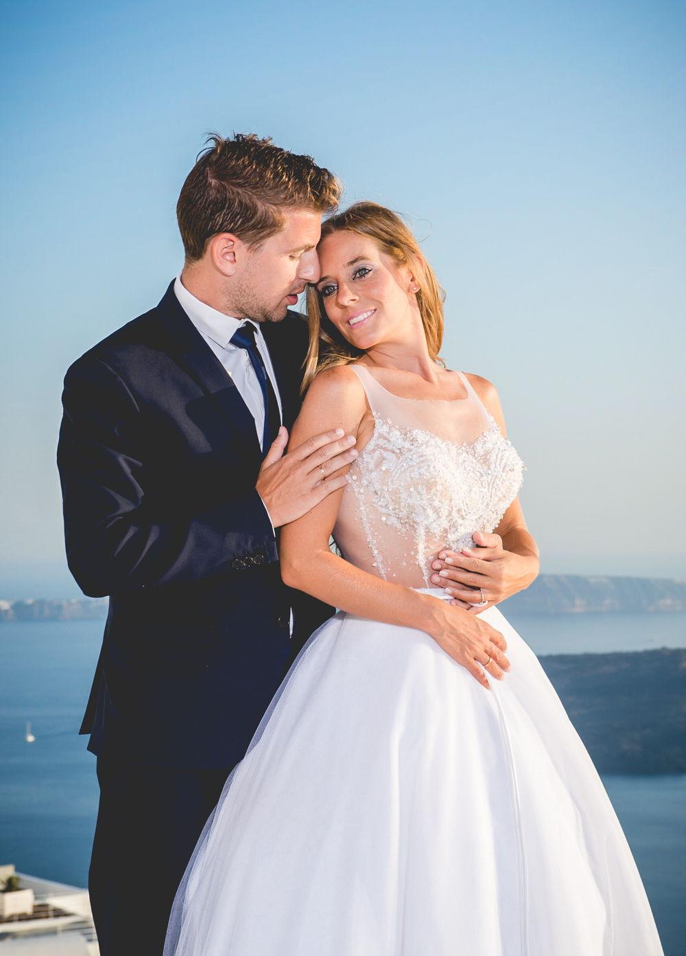 Clio Amp Vasilis After Wedding Shoot In Santorini