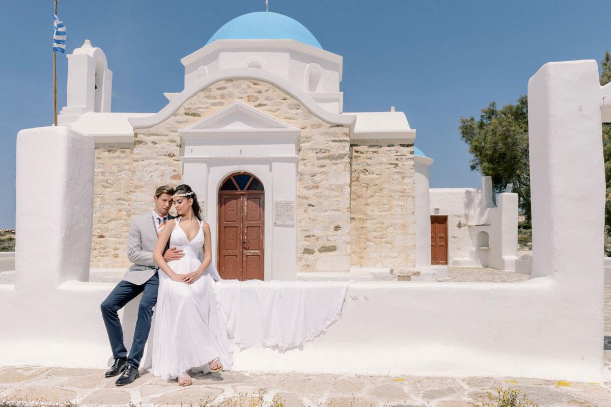 Boho, Greek traditional beach wedding in Paros - StudioPhosart