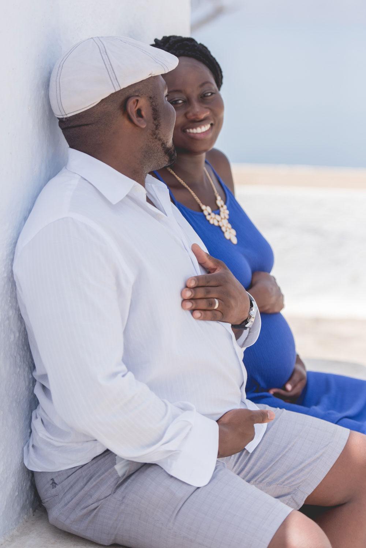 Maternity Photography In Blue Studiophosart
