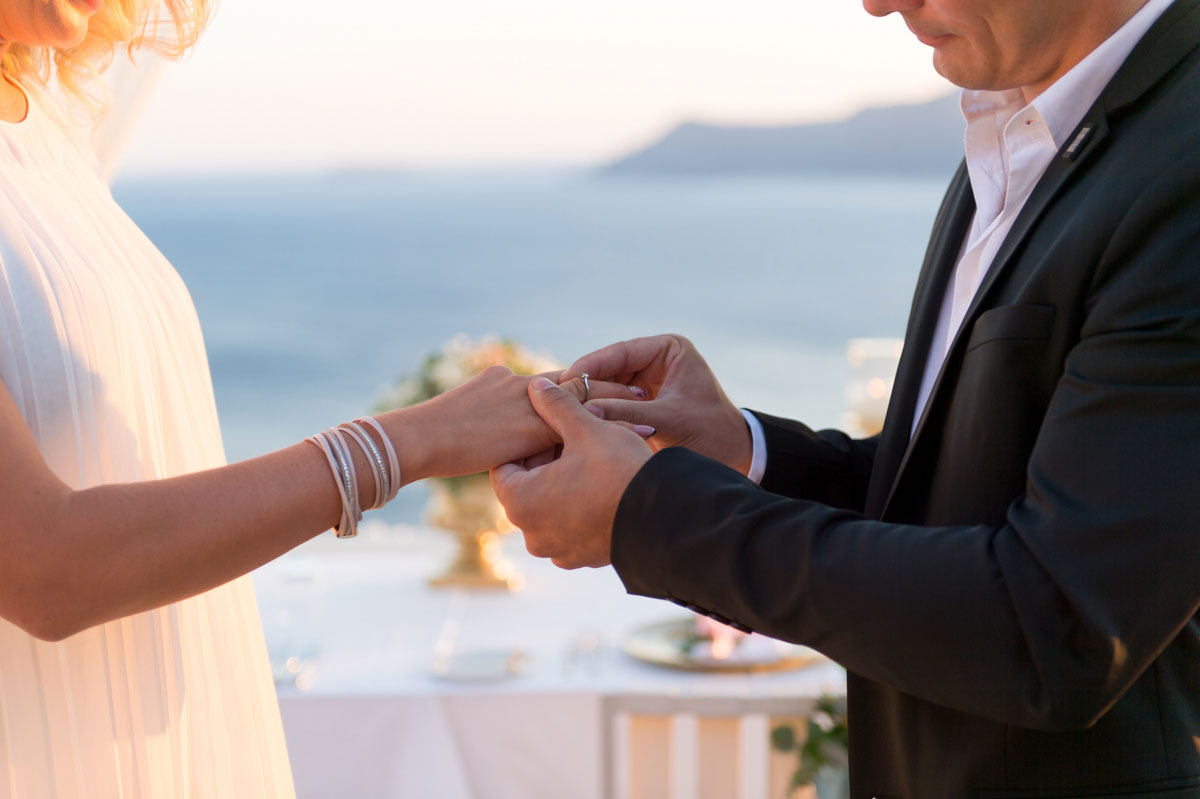 Romantic Destination Wedding Proposal At Canaves Oia