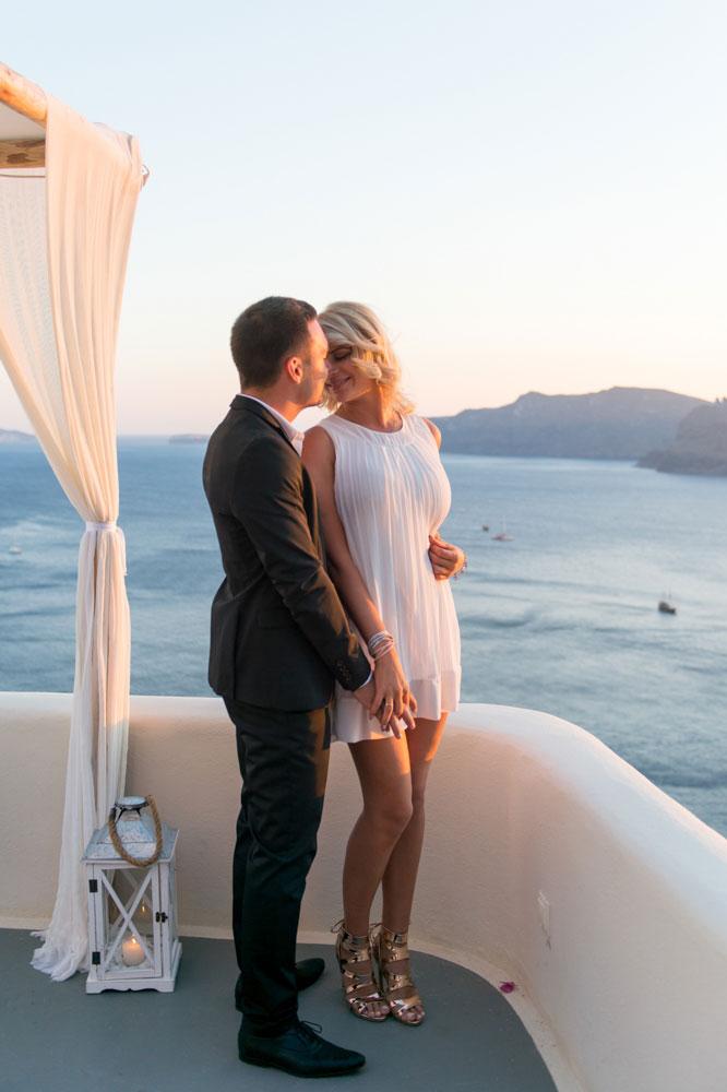 Romantic Destination Wedding Proposal At Canaves Oia Santorini