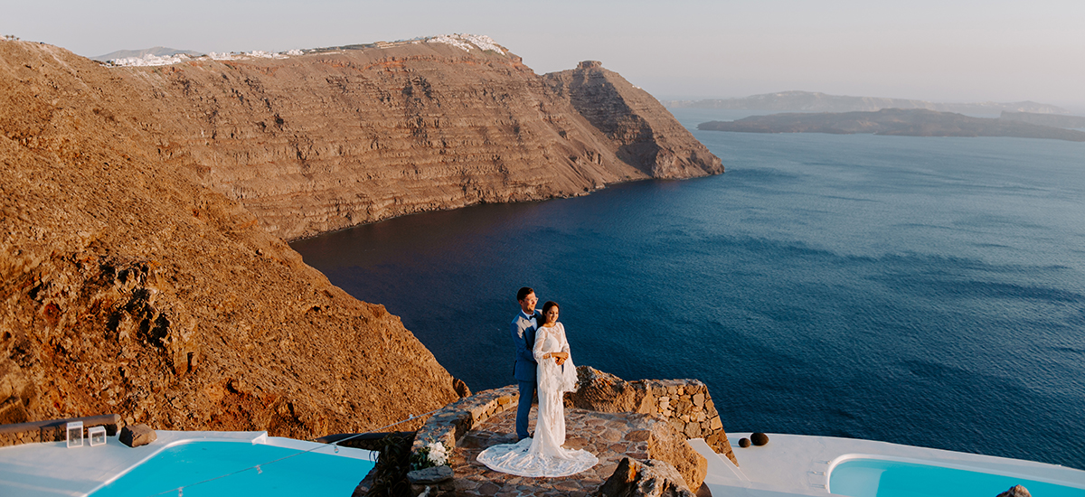 santorini wedding phosart