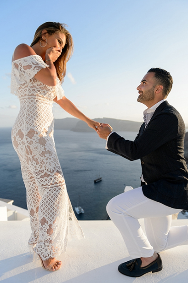 Breathtaking Surprise Proposal at Katikies Hotel, Oia Santorini