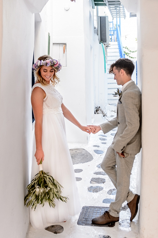 Boho, Elegant Wedding at Saint John, Mykonos