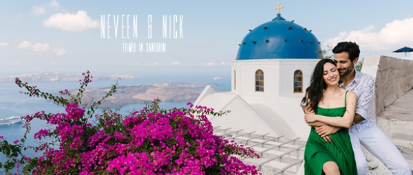 A Chic Traditional Santorini Wedding