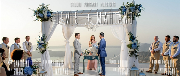 Destination wedding in Santorini | Demis and Mariano