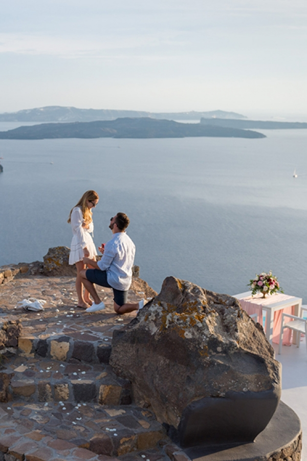 One of a Kind Wedding Proposal at Aenaon Villas, Santorini