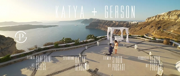 Breathtaking Proposal in Santorini, Venetsanos Winery