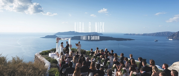 Enchanting Wedding at Villa Nafsika, Santorini