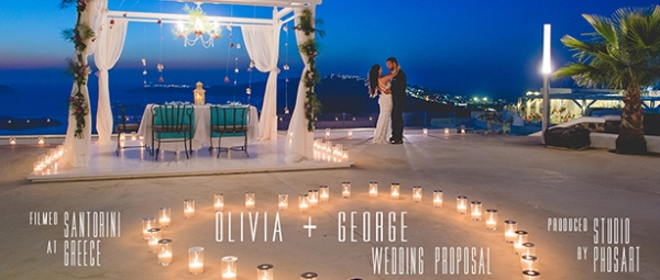 And the fairy tale begins for George and Olivia...