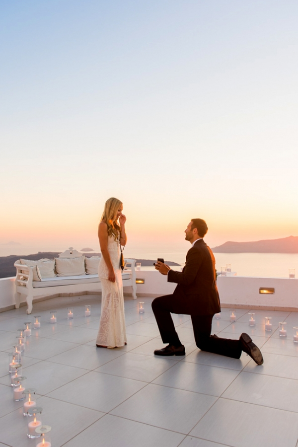 Amazing Surprise Proposal at Santorini