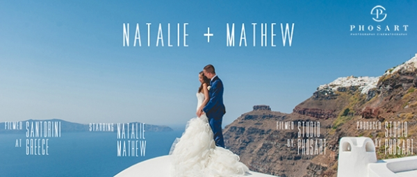 The Love Story of Natalie & Mathew in Dana Villas, Santorini