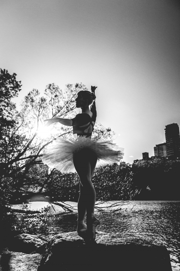 Michelle dancing in Central Park, New York