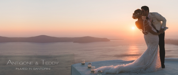 Greek-American Destination Wedding in Santorini