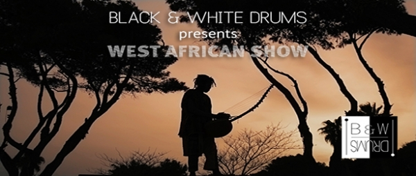 "Black 'n White Drums presents the ""West African show in Greece"""