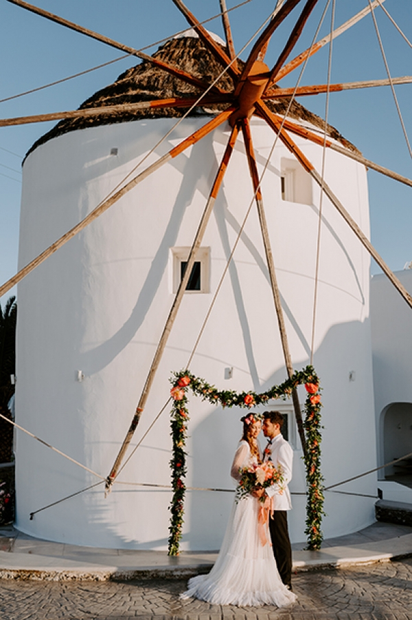 Mykonos Coral Elopement Styled Shoot