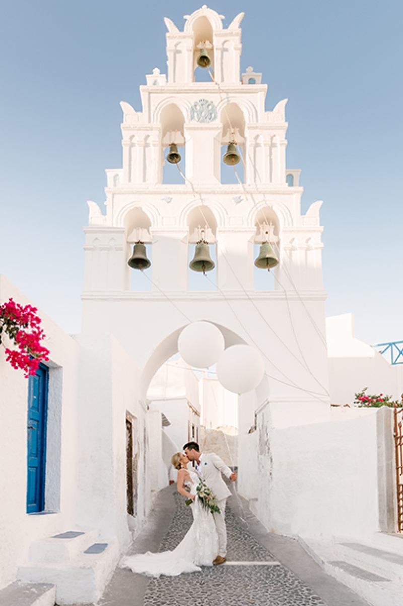 Australian Couple Destination Wedding in Santorini