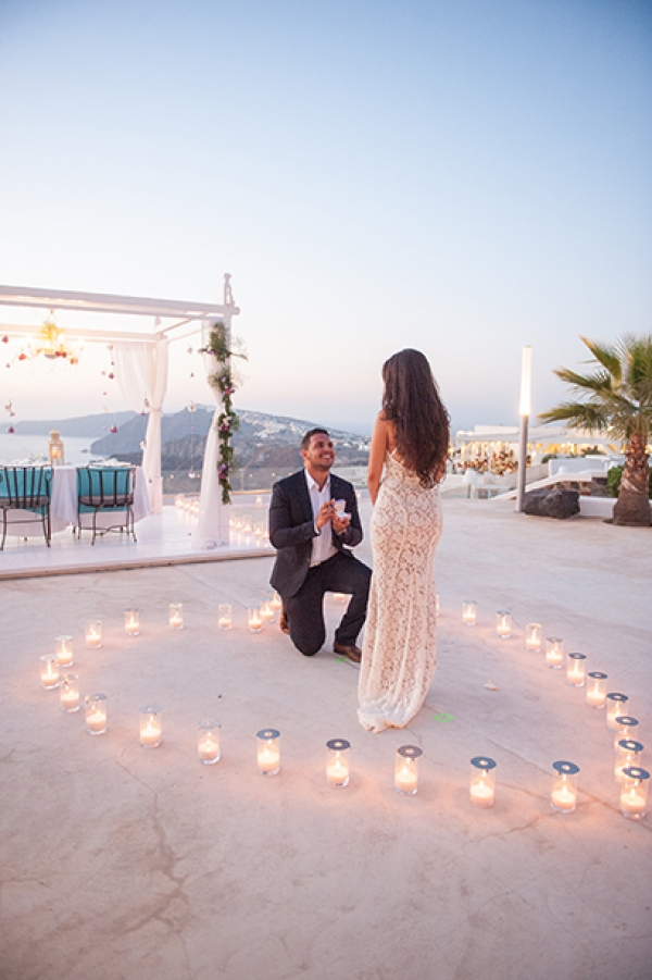 Breathtaking wedding proposal at Santorini Gem..!