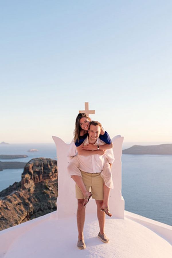 Honeymoon Photography at Imerovigli, Santorini!