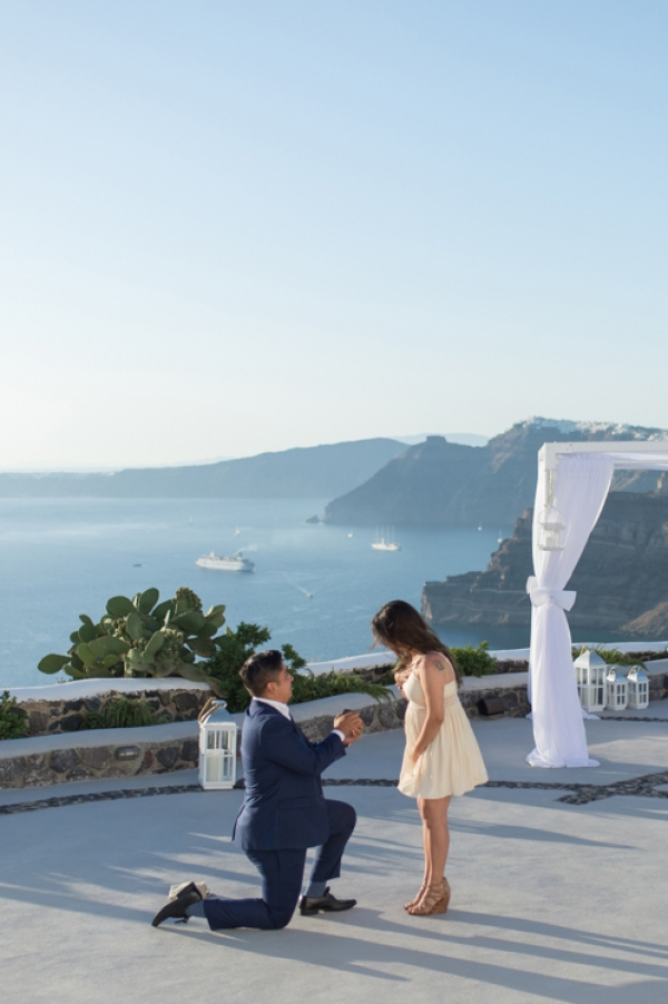 Wedding Proposal at Venetsanos Winery, Santorini