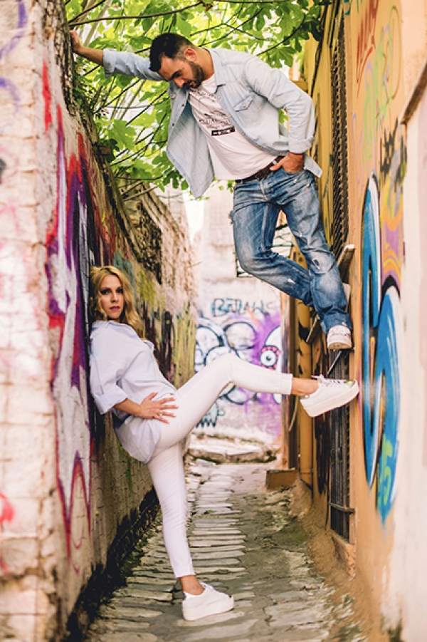 Urban Style Engagement Photography