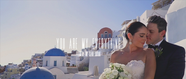 Romantic elopement wedding at Santo Maris, Santorini!