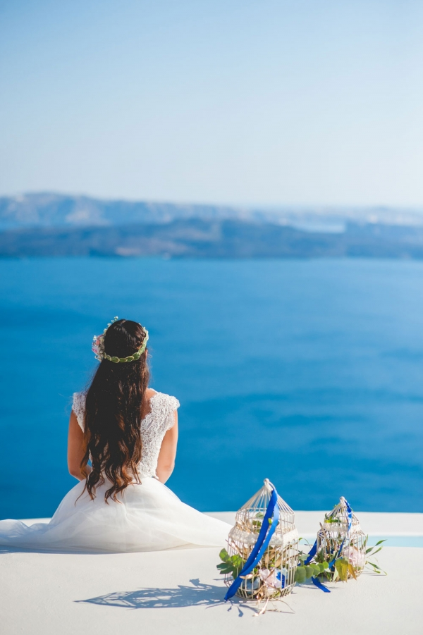 Santorini Wedding Inspiration Styled Shoot
