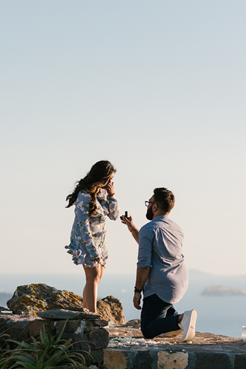 Romantic Wedding Proposal at Aenaon Villas, Santorini