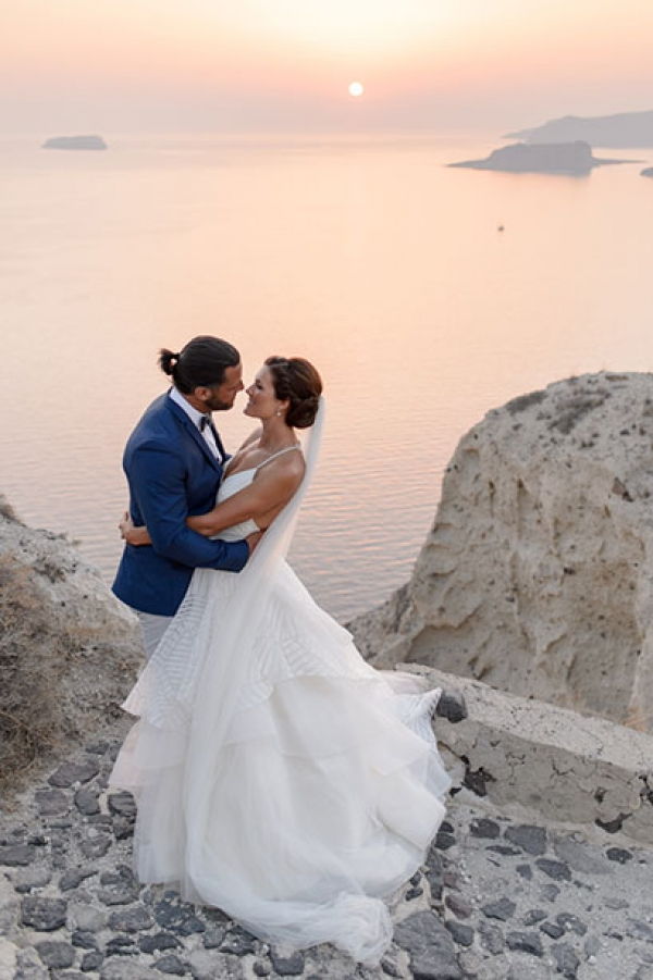 Stunning day after wedding session in Akrotiri, Santorini