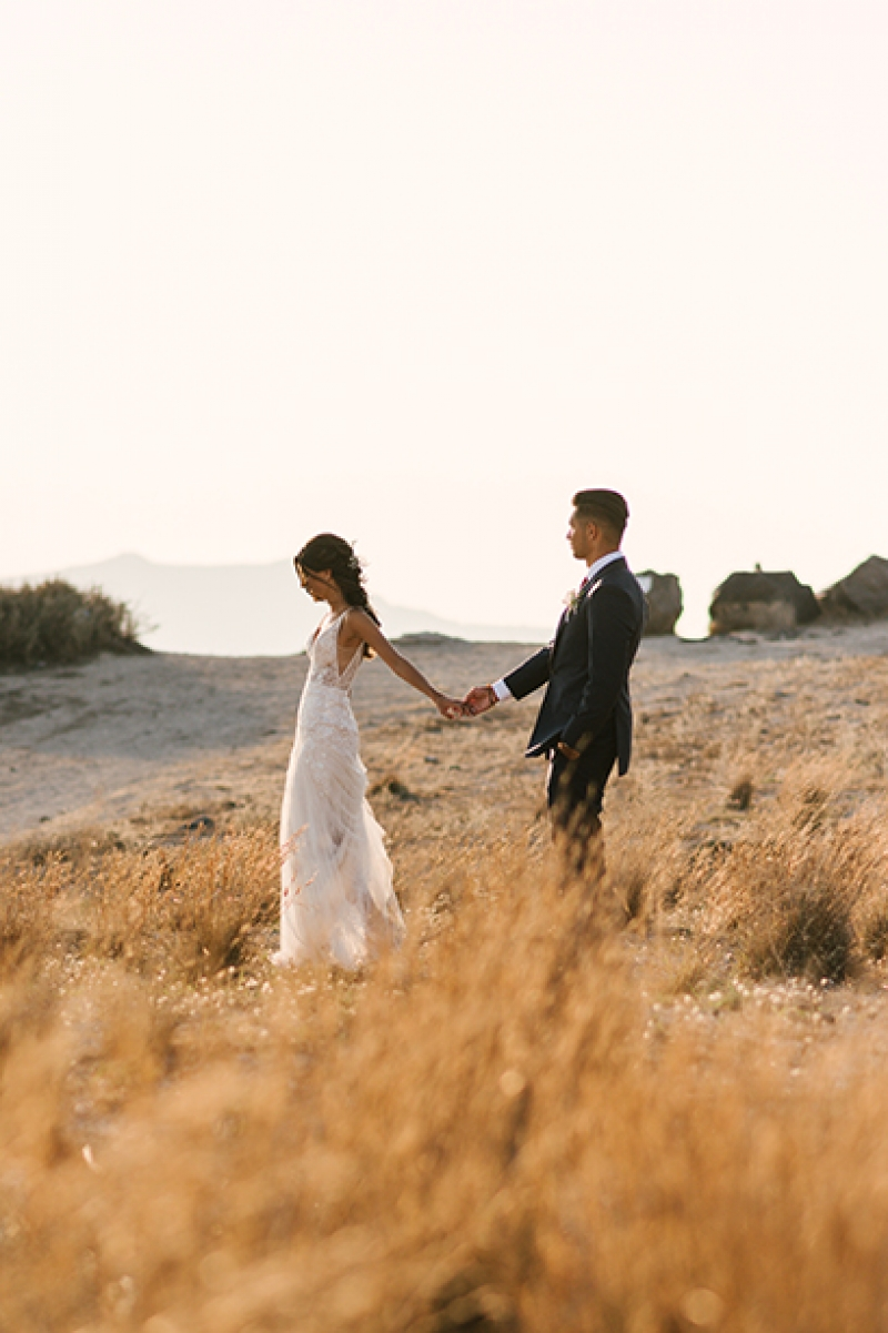 Beautiful Couple in Romantic Destination Wedding