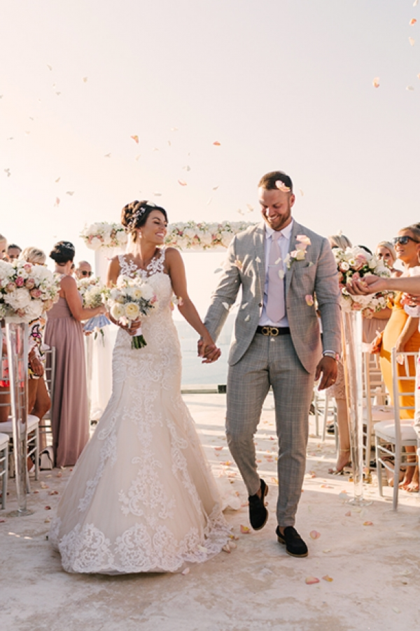 Modern Style Wedding at Cavo Ventus, Santorini