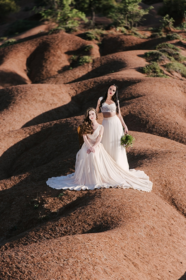 Summer Wedding dress Editorial by Zolotas